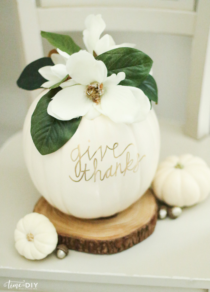 magnolia pumpkin at Time to DIY blog