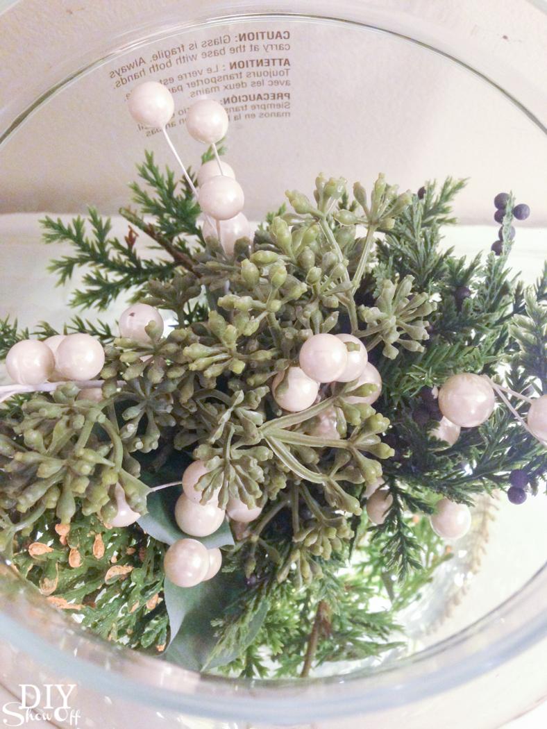 Love this Christmas mistletoe greenhouse centerpiece @diyshowoff! #makeitwithmichaels