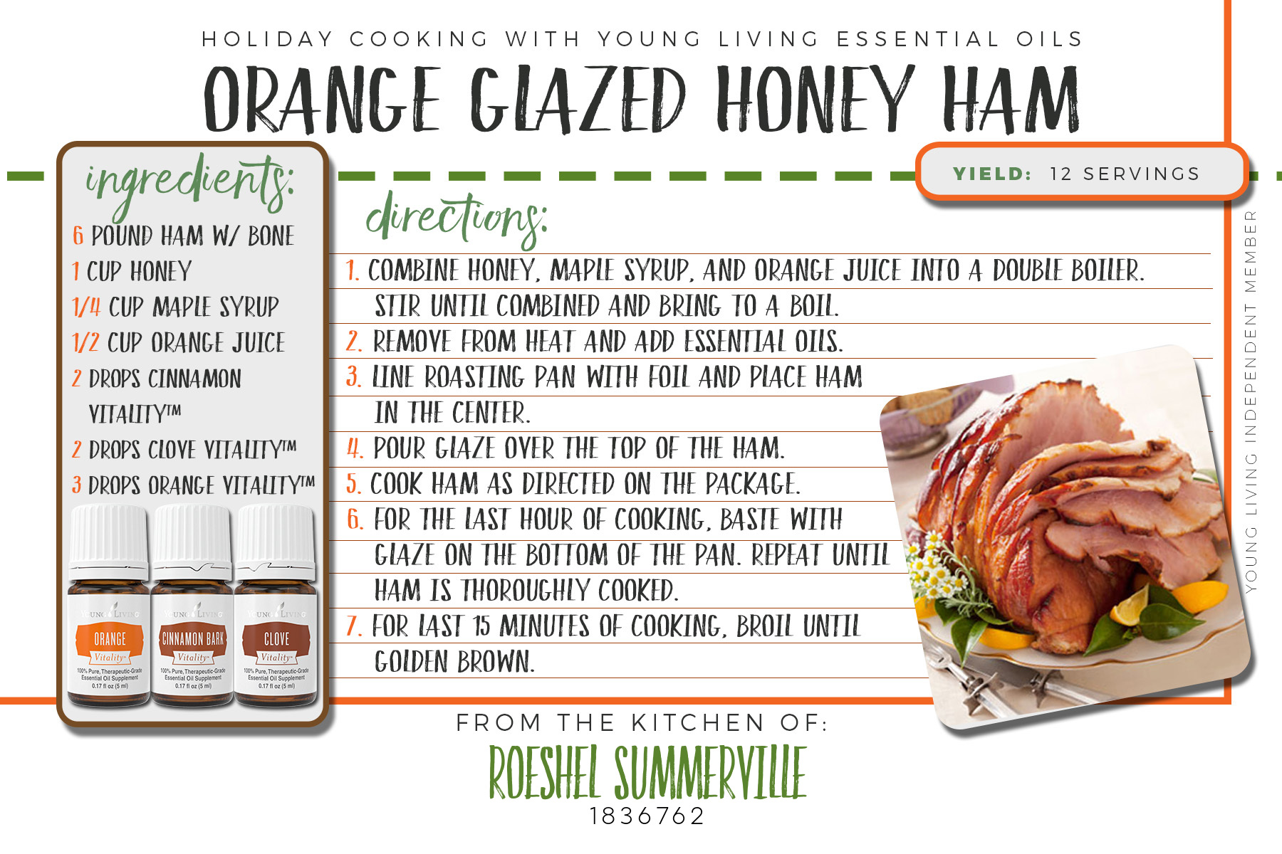 orange honey glazed ham recipe
