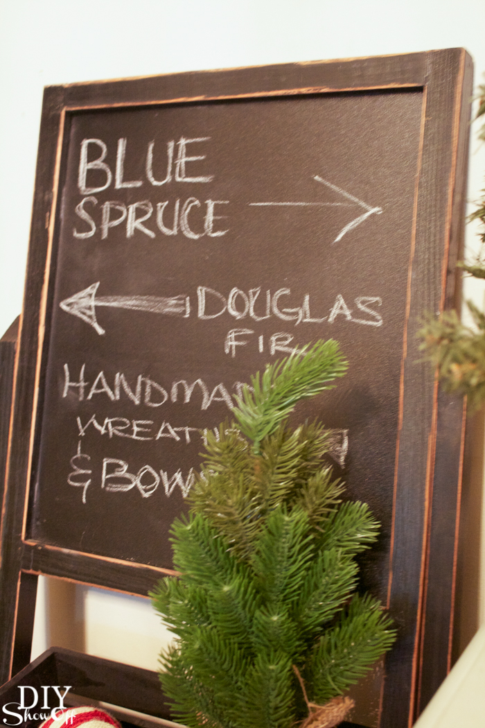 Christmas tree farm inspired decorating #athome @diyshowoff #christmas