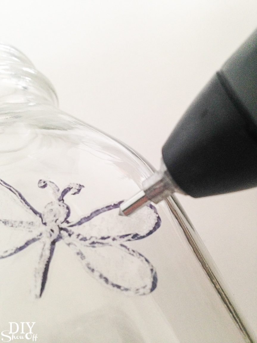 DIY Dremel maker kit engraving glass @diyshowoff
