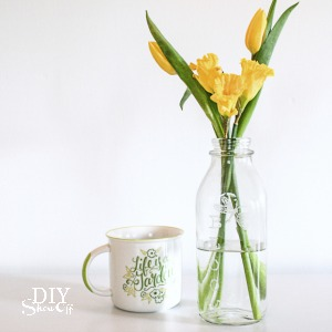 DIY Engraved Glass Vase @diyshowoff