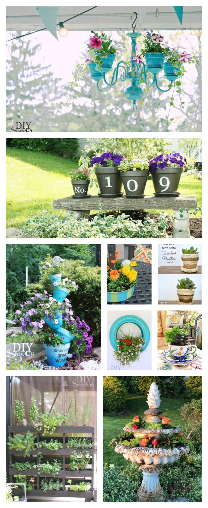 creative planter ideas @diyshowoff