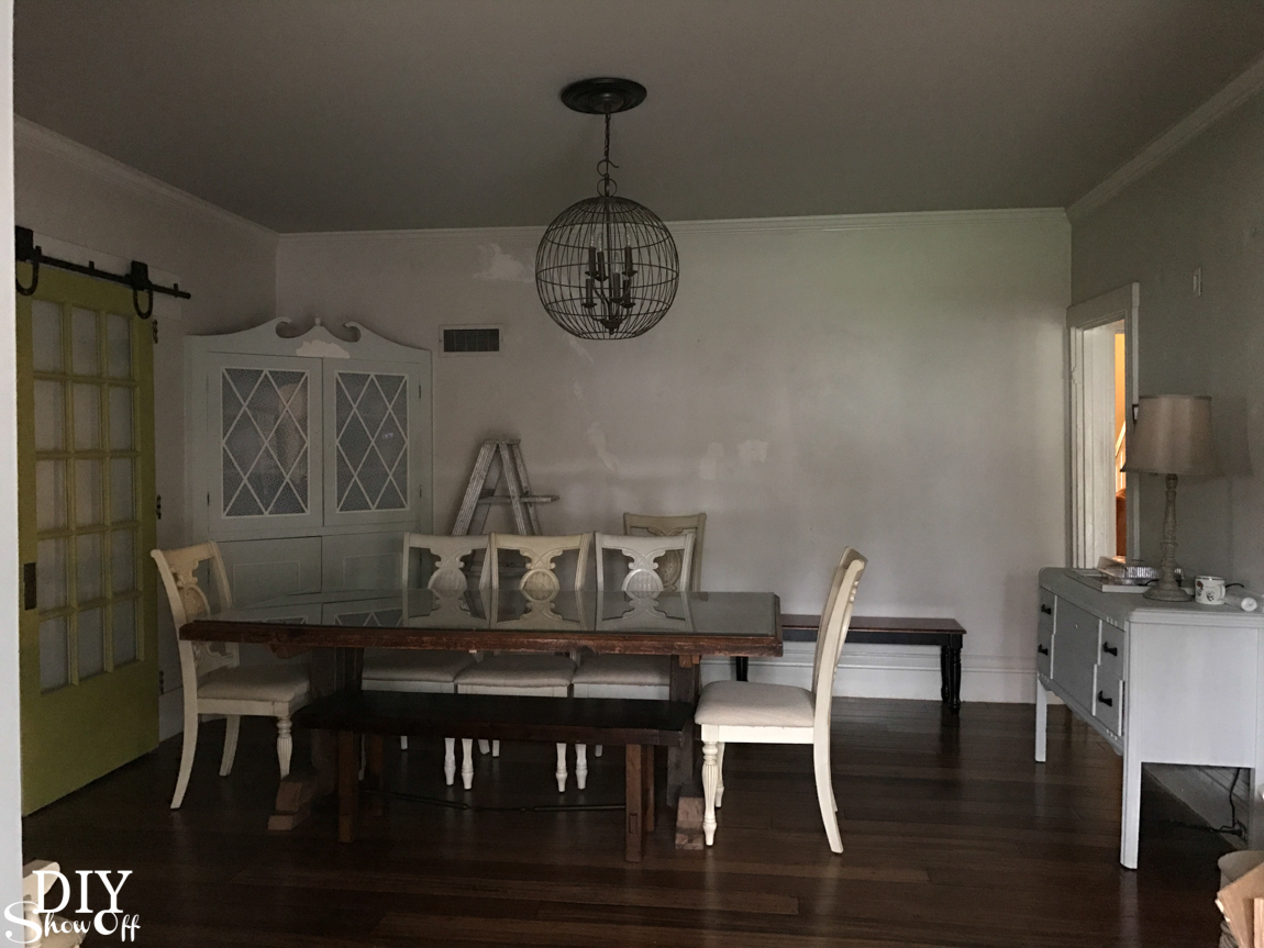 Color Lovers series! @diyshowoff dining room before