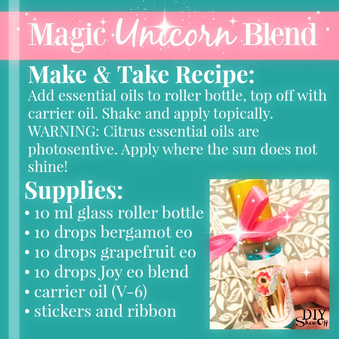 magic unicorn essential oil blend
