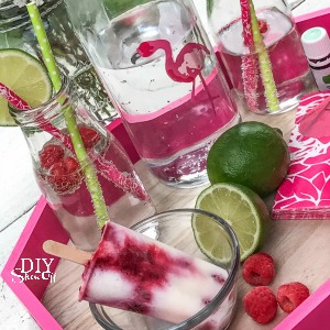summer cookout raspberry lime essential oil infused popsicle recipe
