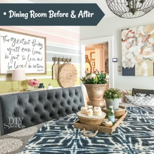 diyshowoff colorful dining room
