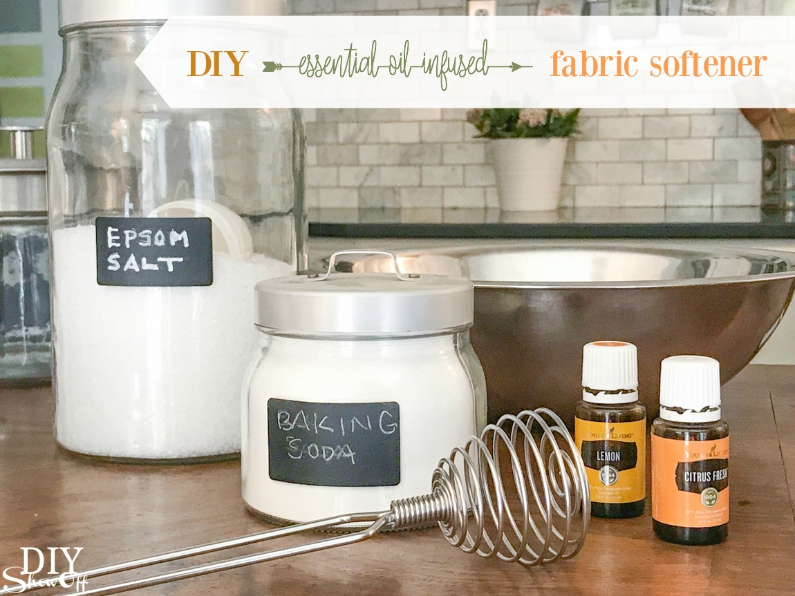 DIY essential oil infused laundry fabric softener tutorial