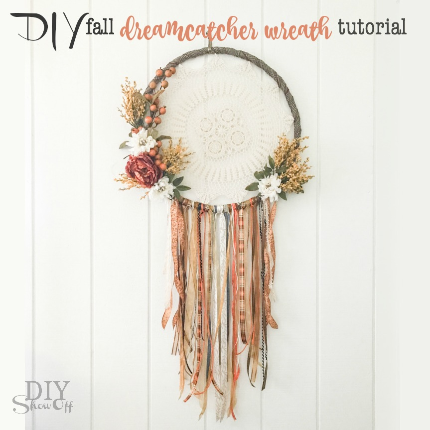 Diy fall dreamcatcher door diy show off diy for How to make dreamcatcher designs