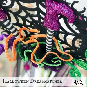 DIY Halloween witch dreamcatcher tutorial tea party @diyshowoff #madewithmichaels