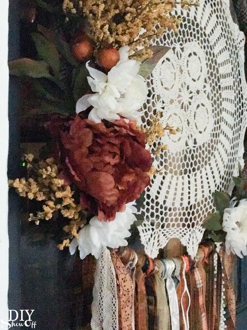 DIY fall autumn dreamcatcher door decor wreath @diyshowoff