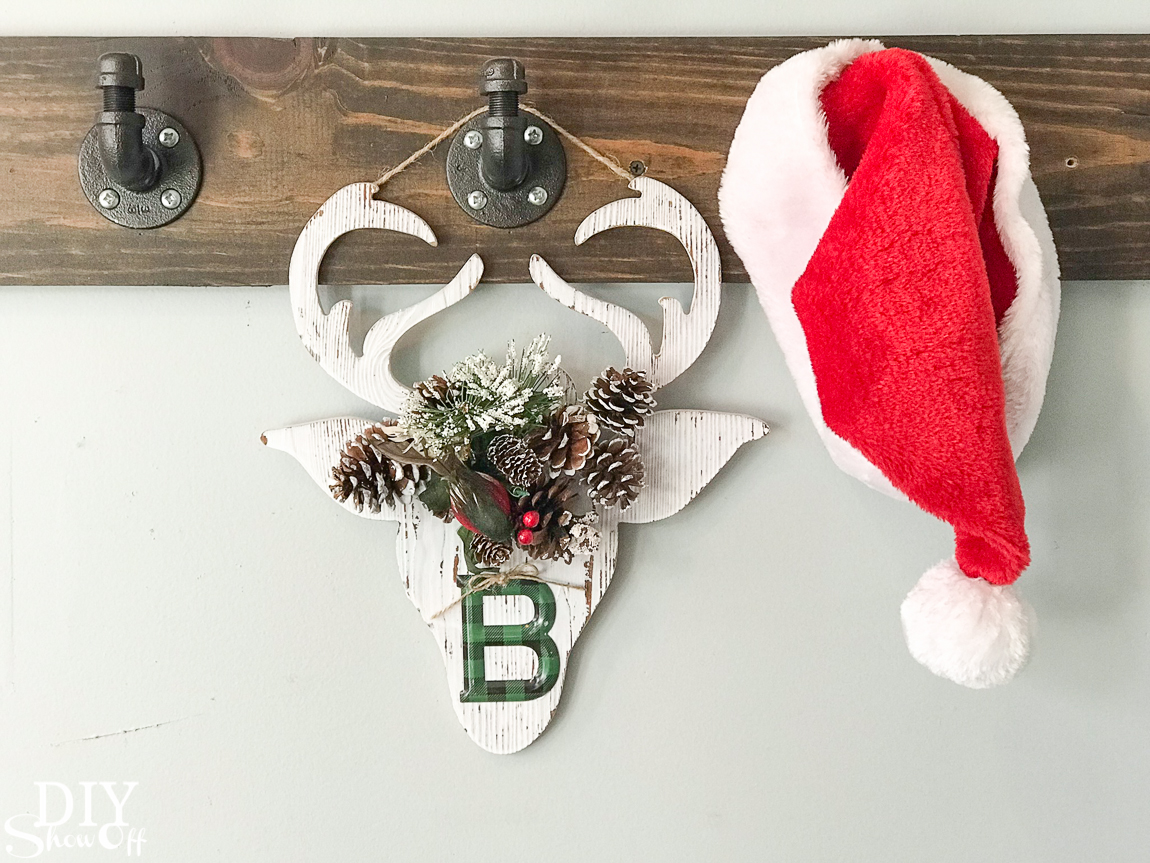 DIY holiday handmade gift idea - personalized flower crown Christmas reindeer decor @diyshowoff #michaelsmakers