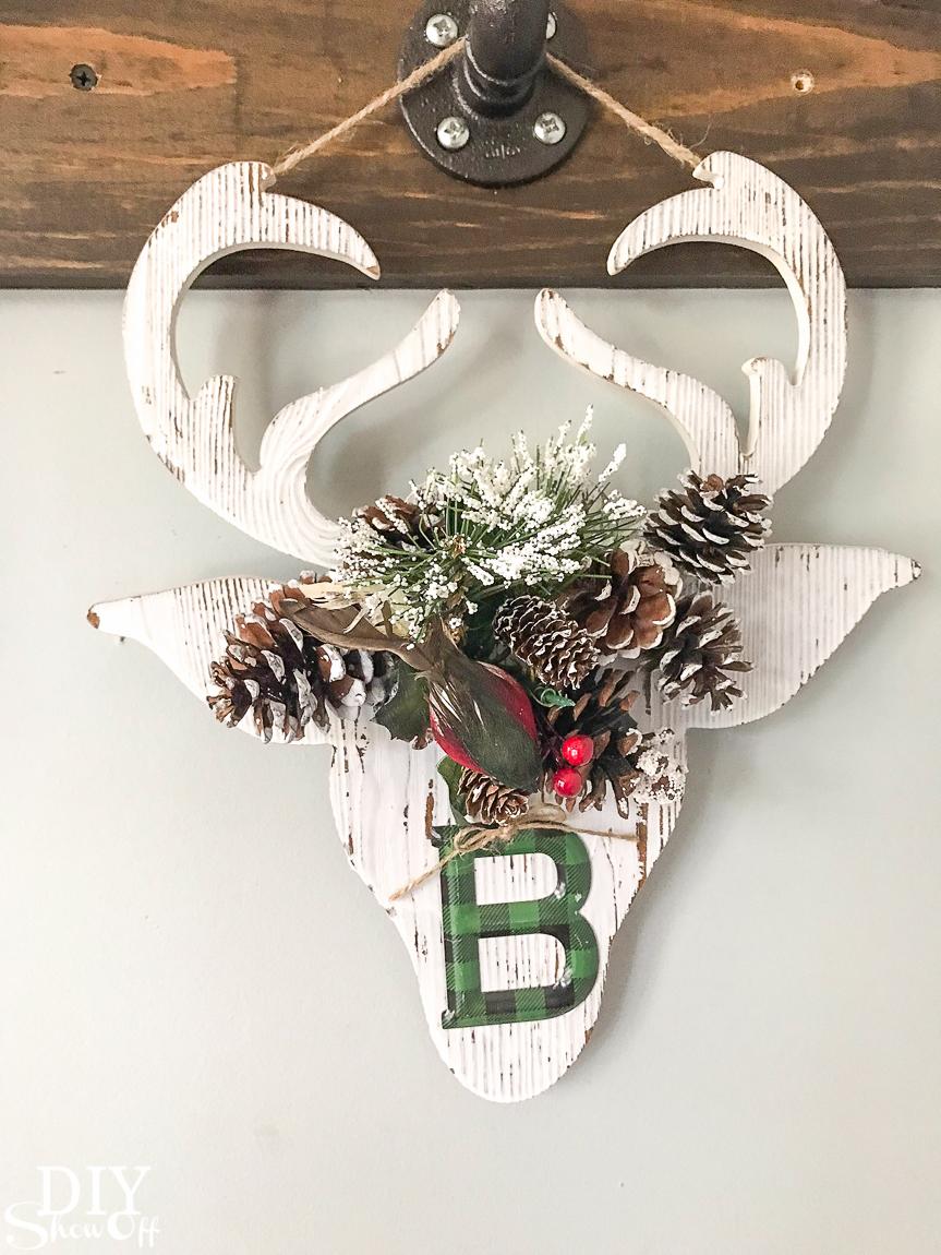 DIY holiday handmade gift idea - personalized flower crown Christmas reindeer decor @diyshowoff #michaelsmakers