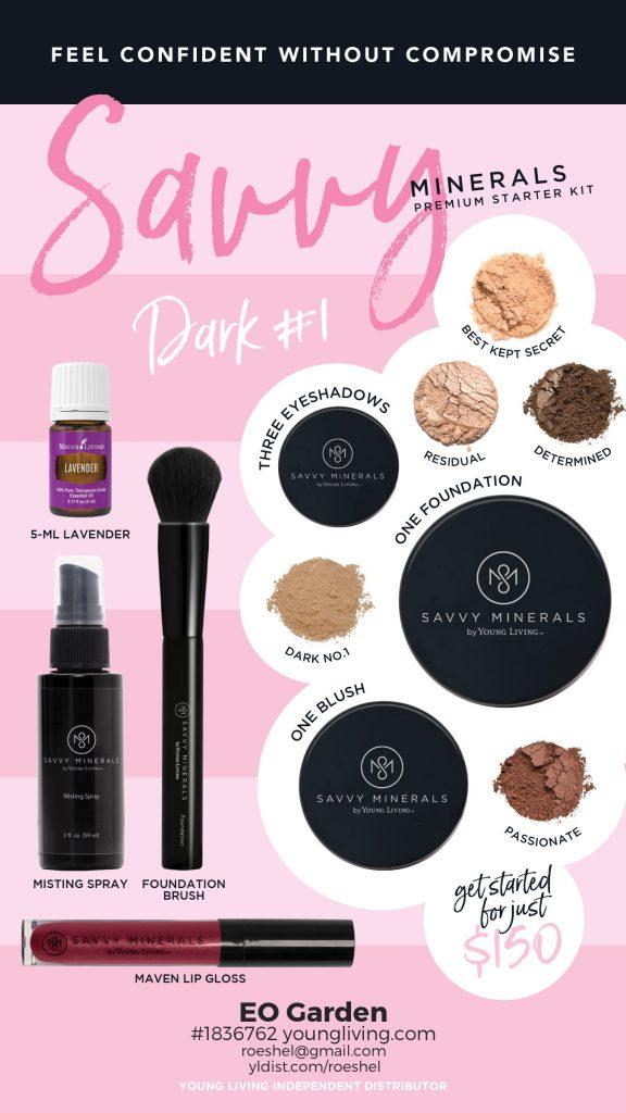 Dark 1 Savvy Minerals Makeup
