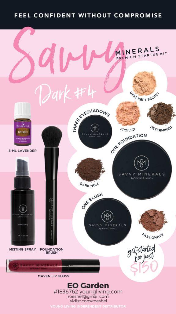 Dark 4 Savvy Minerals Makeup