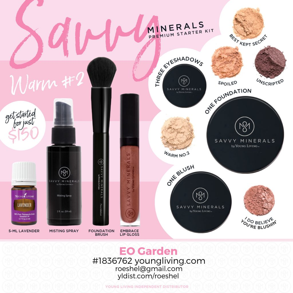 Warm 2 Savvy Minerals chemical free makeup