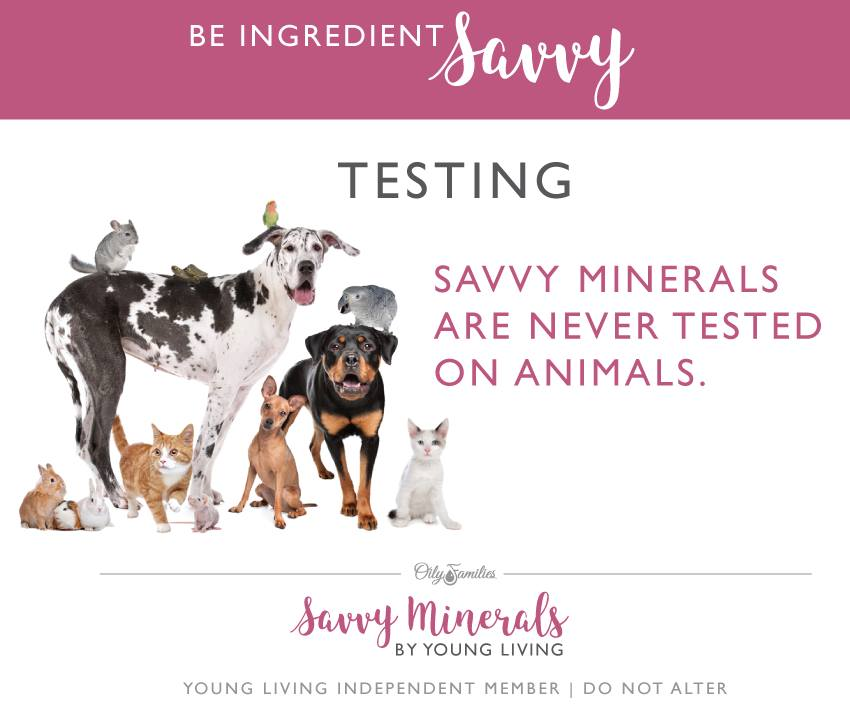 NO animal testing! mineral makeup