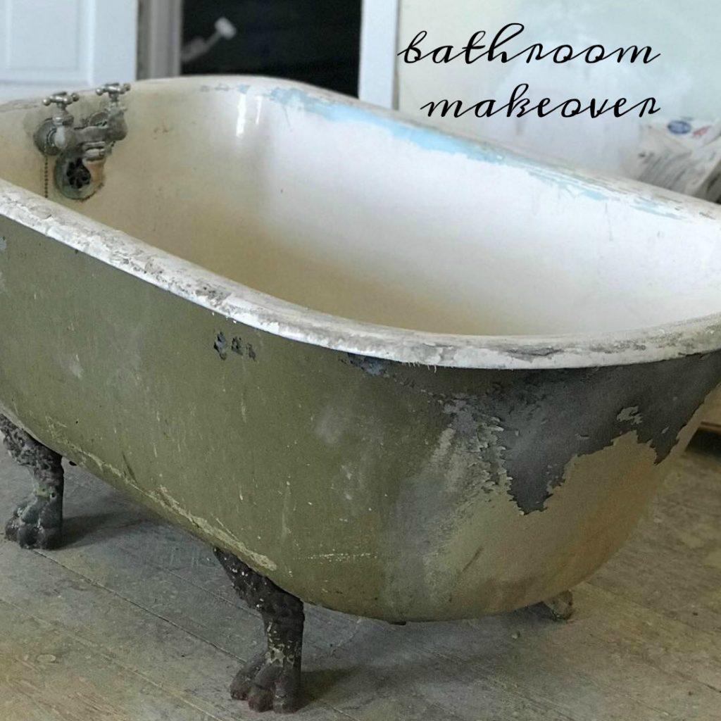awesome vintage bathroom makeover @diyshowoff #helloredreno #shawstyleboard