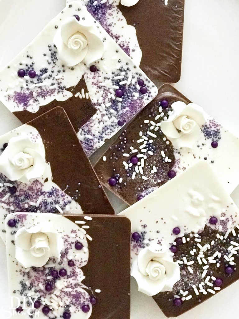 DIY chocolate candy melts bridal wedding shower party favor gifts tutorial @diyshowoff essential oil infused gift idea