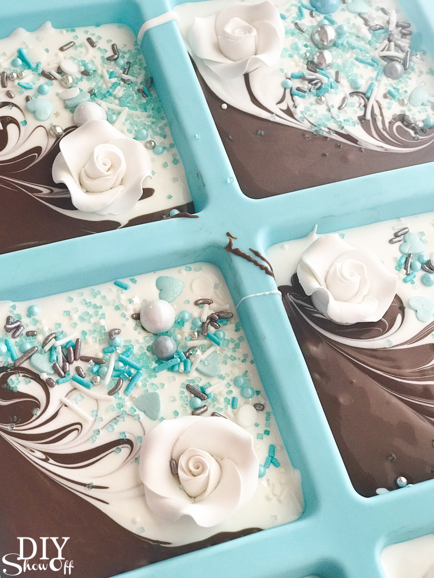 diy chocolate candy melts bridal wedding shower party favor gifts
