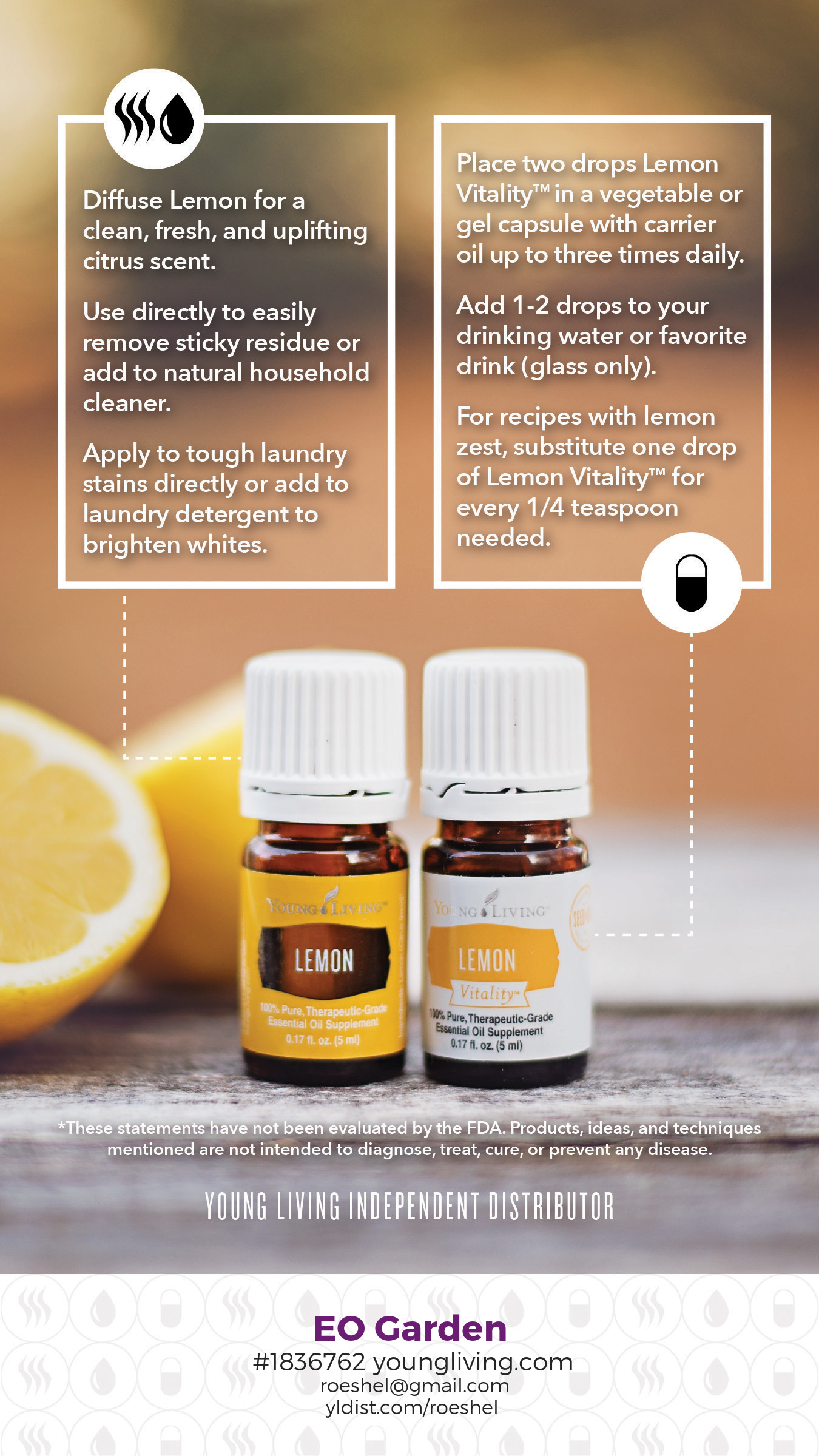 lemon essential oils #diy