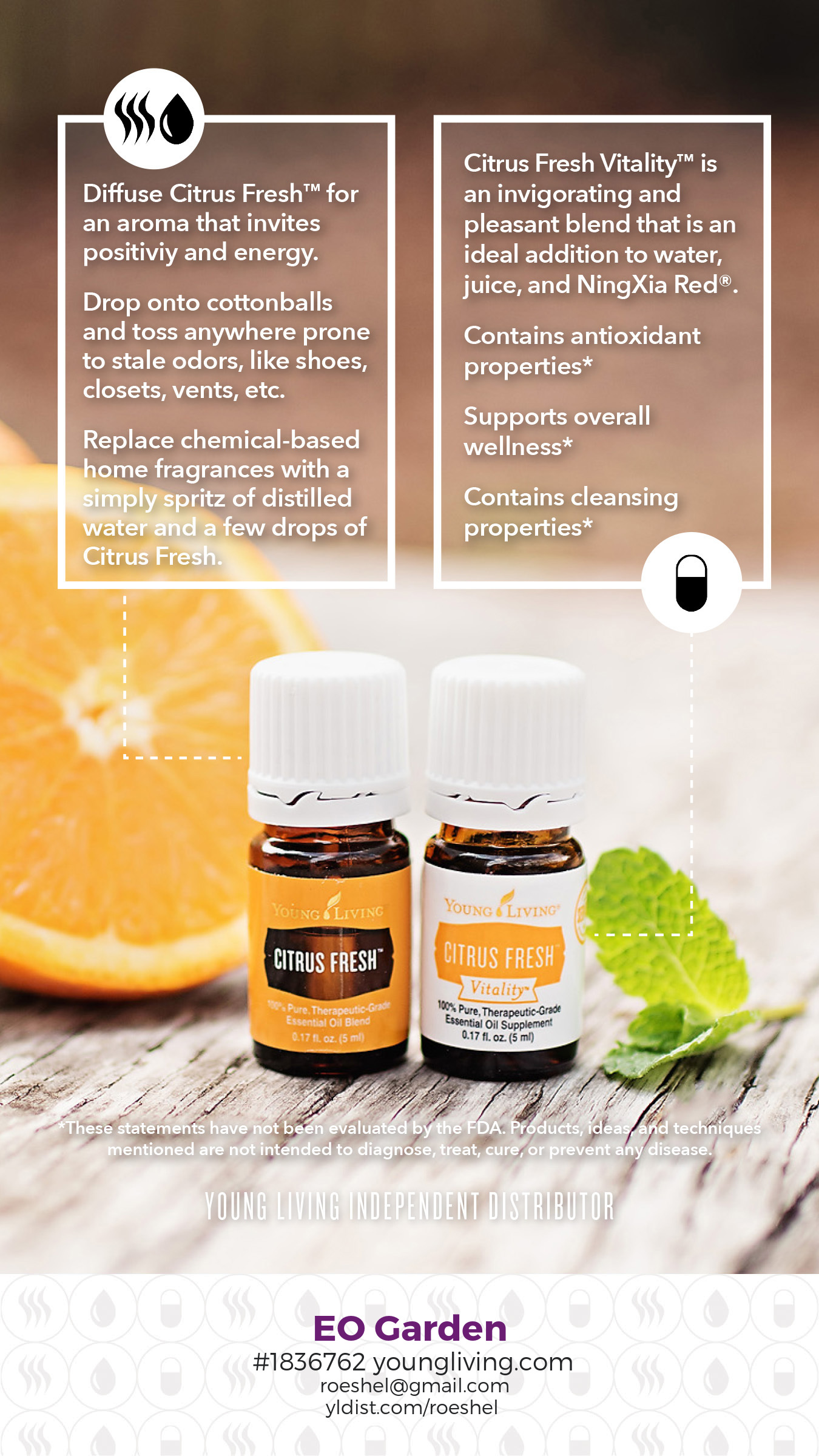 citrus fresh essential oils #diy