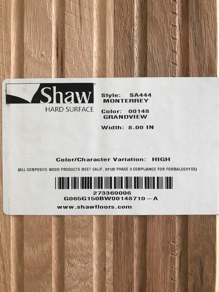 Shaw Monterrey Grandview hardwood sample