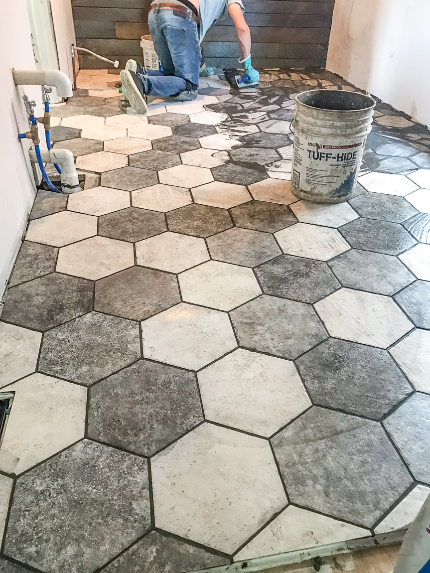 Shaw San Francisco hexagon tile floor