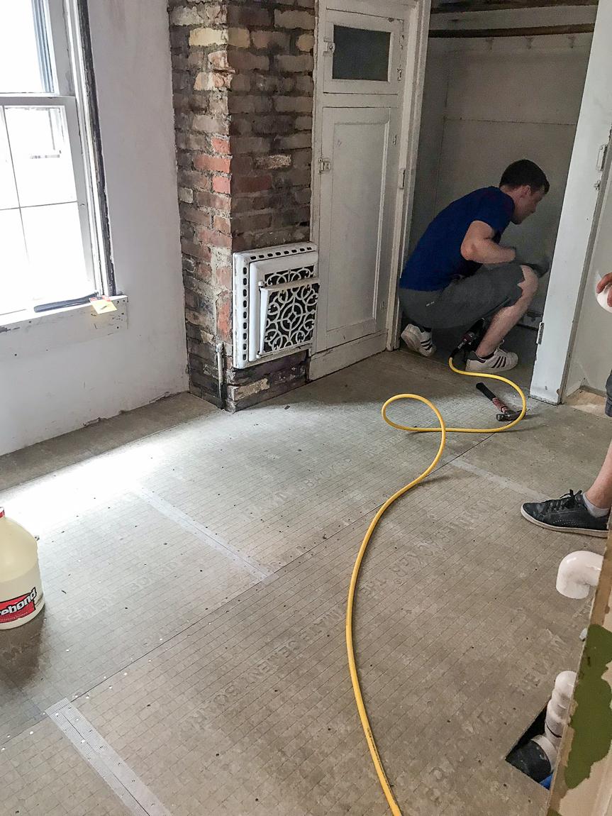 tile floor base