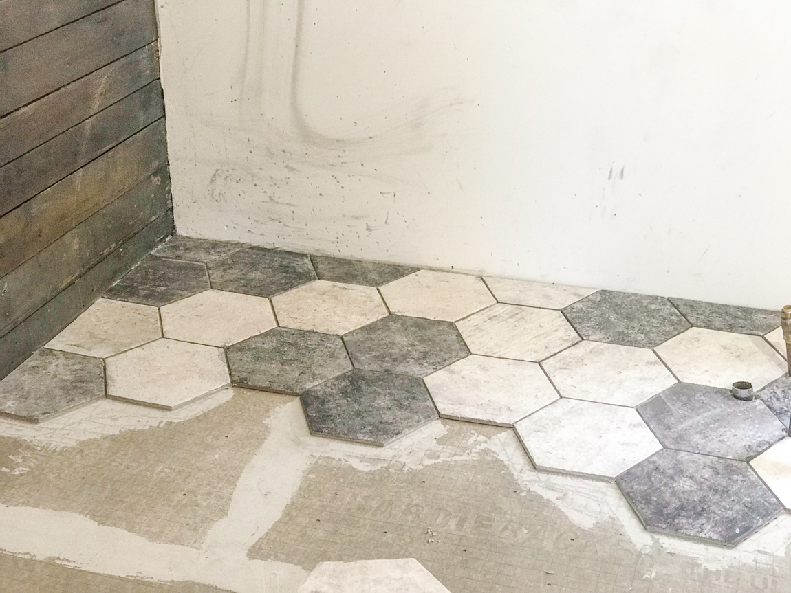 hexagon tile placement - DIY Show Off ™ - DIY Decorating and Home ...