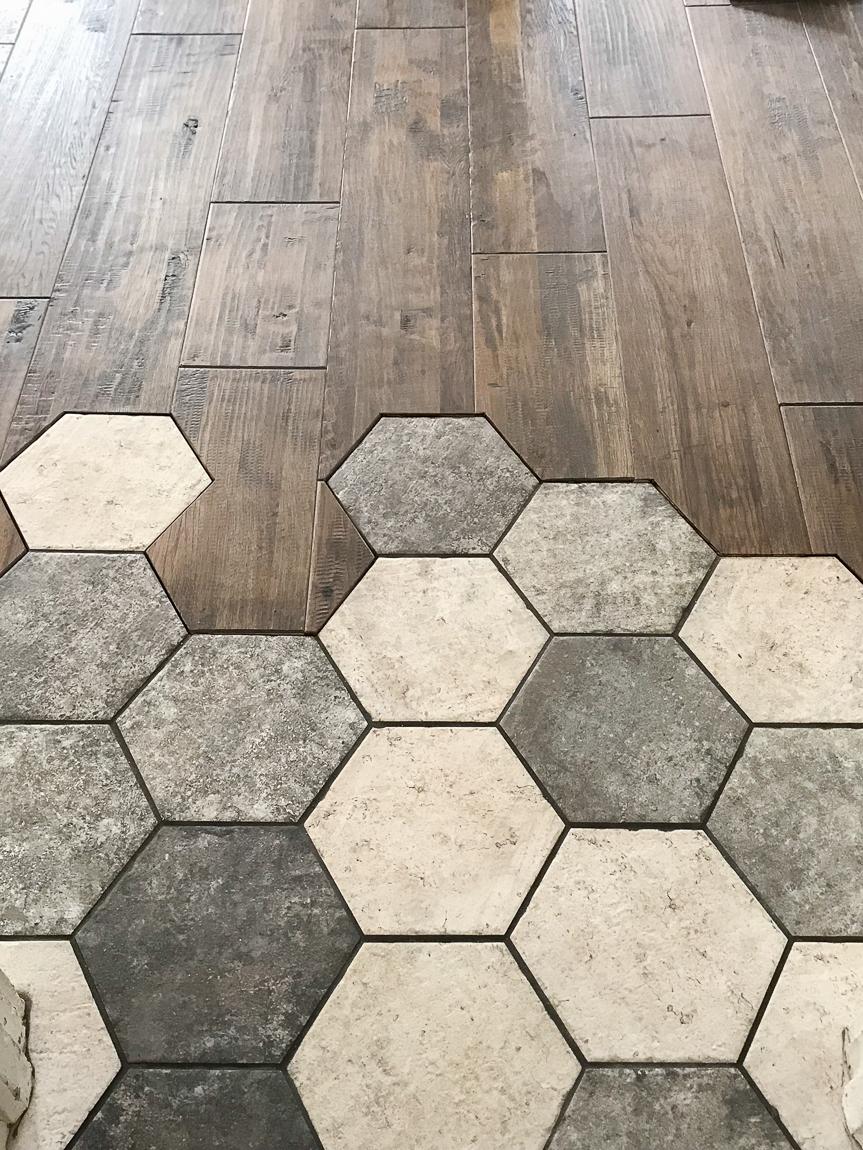 beautiful flowing tile to hardwood transition