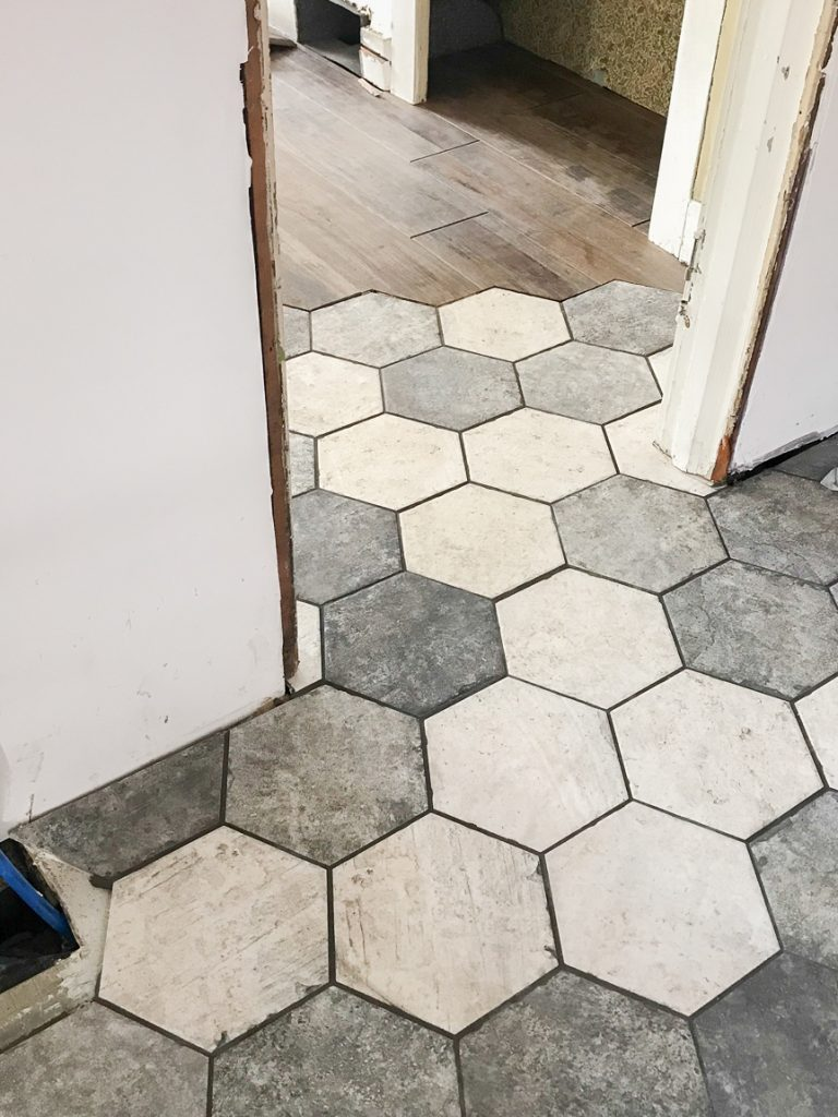 hexagon tile flooring