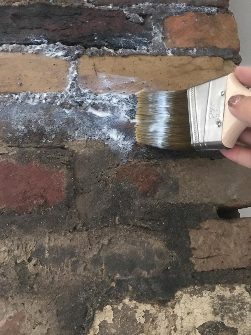 sealing brick with brush