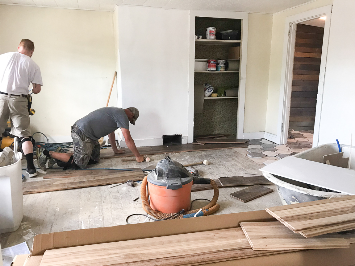 shaw hardwood floor installation