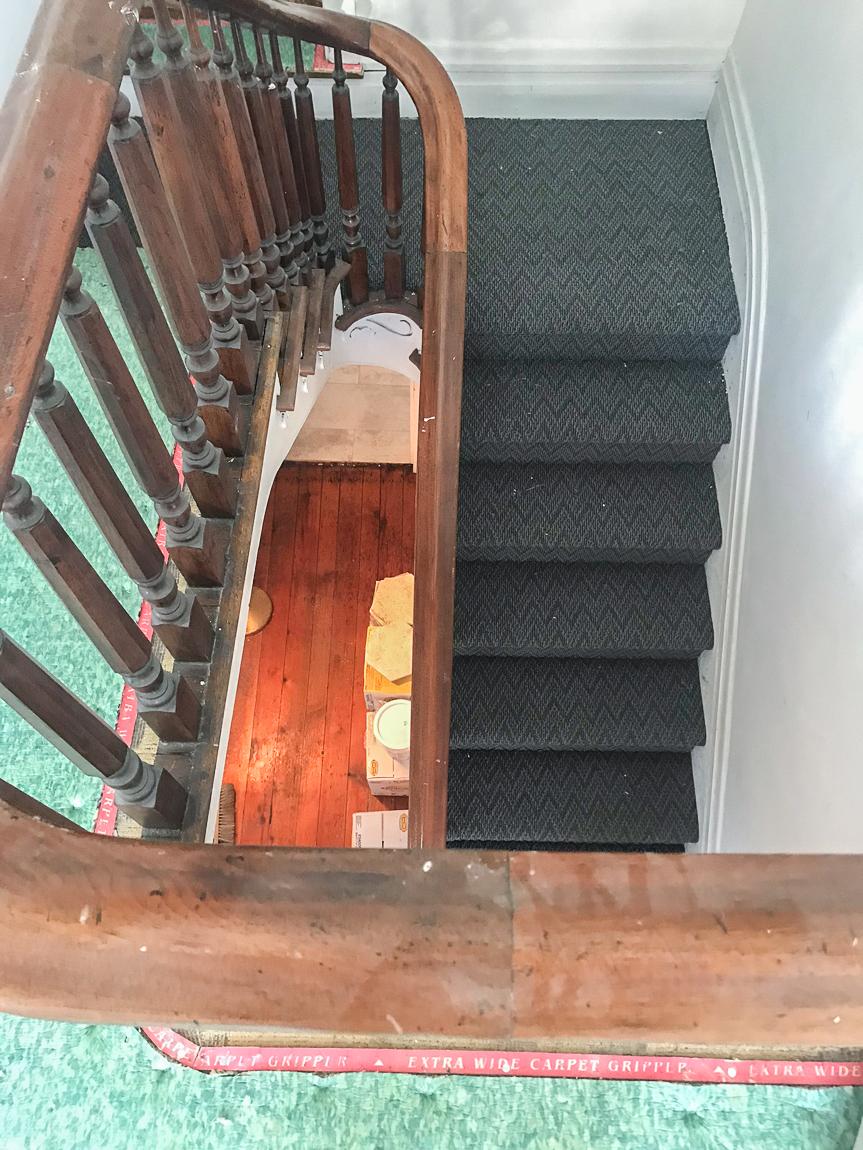 carpet padding on stairs