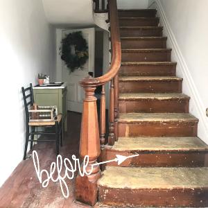 helloredreno staircase before carpeting