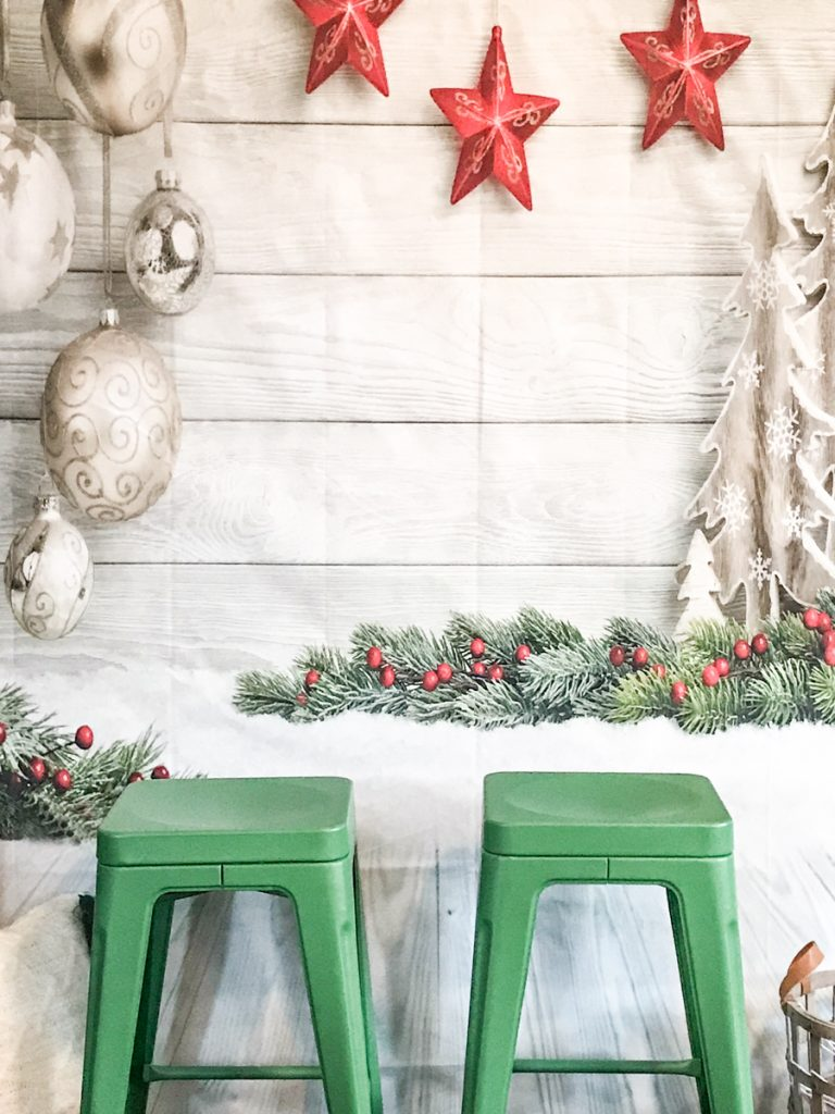 Christmas photo backdrop