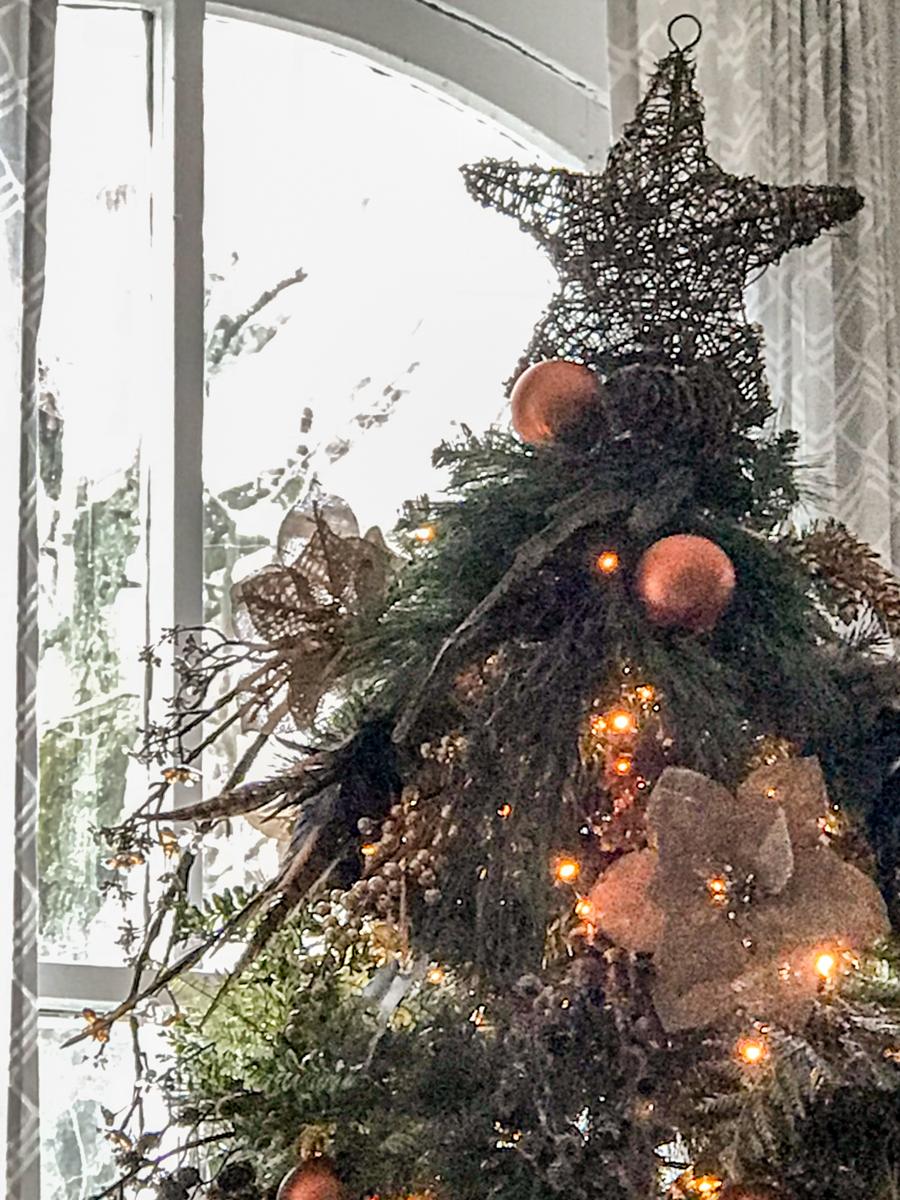 christmas tree grapevine star topper