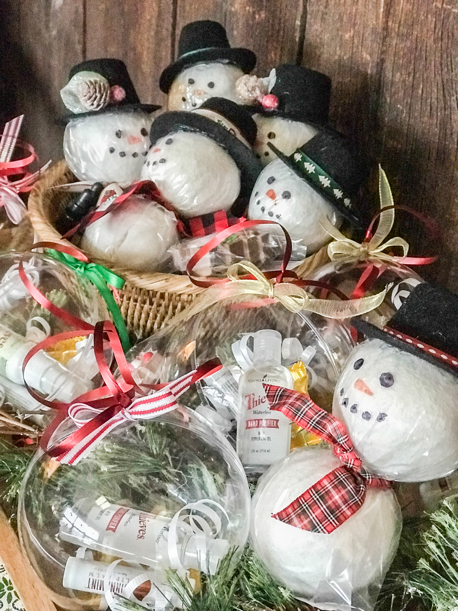 essential oil holiday craft time