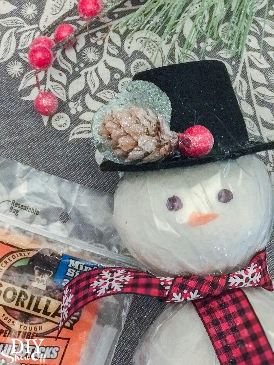 wool dryer ball snowman essential oils tutorial