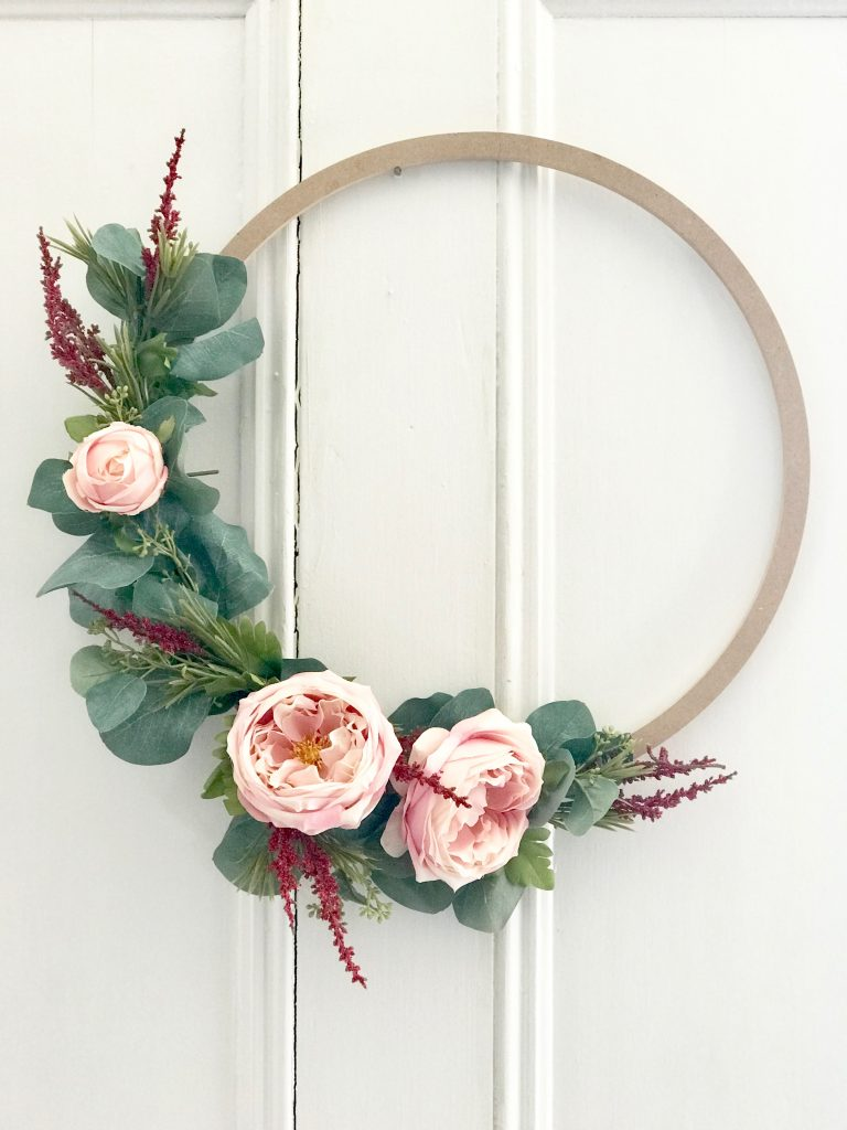diy spring wood ring wreath
