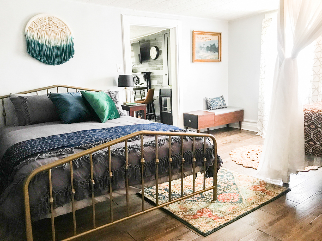 boho airbnb bedroom makeover suite thyme diyshowoff