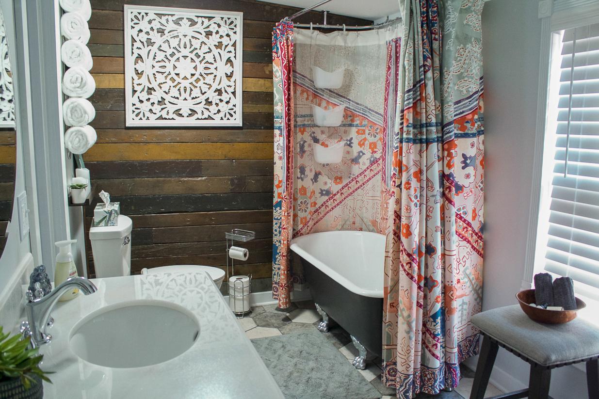 bathroom makeover boho