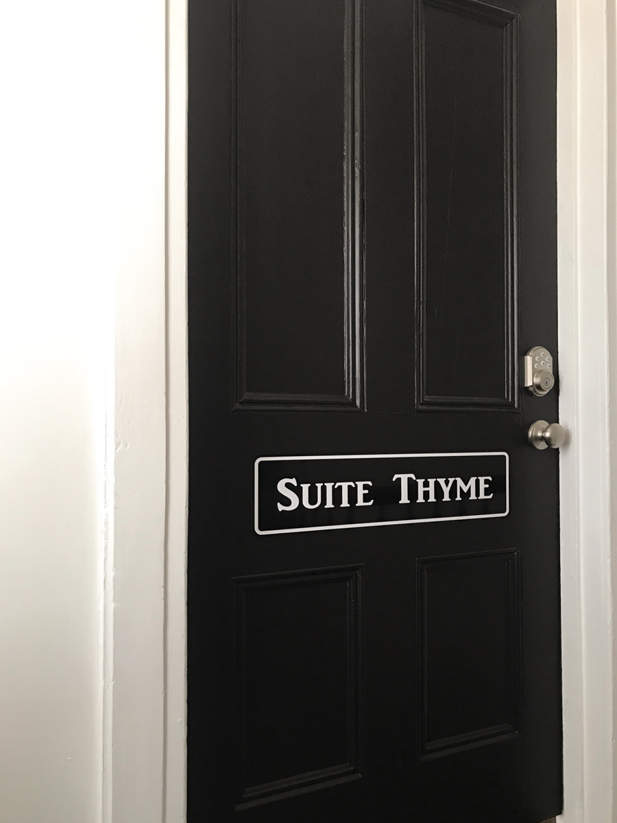 apartment suite thyme door