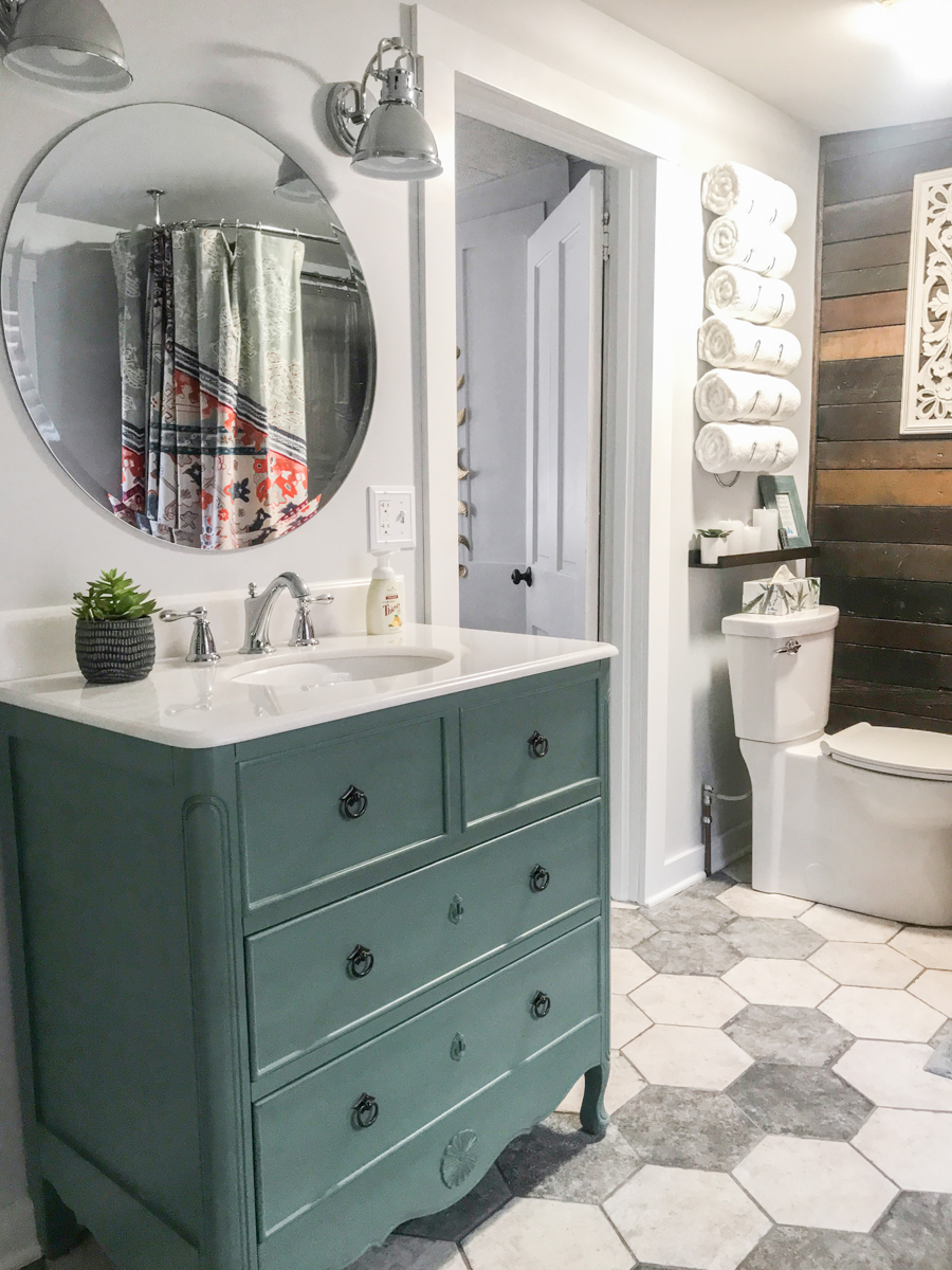 airbnb apartment bathroom makeover suite thyme