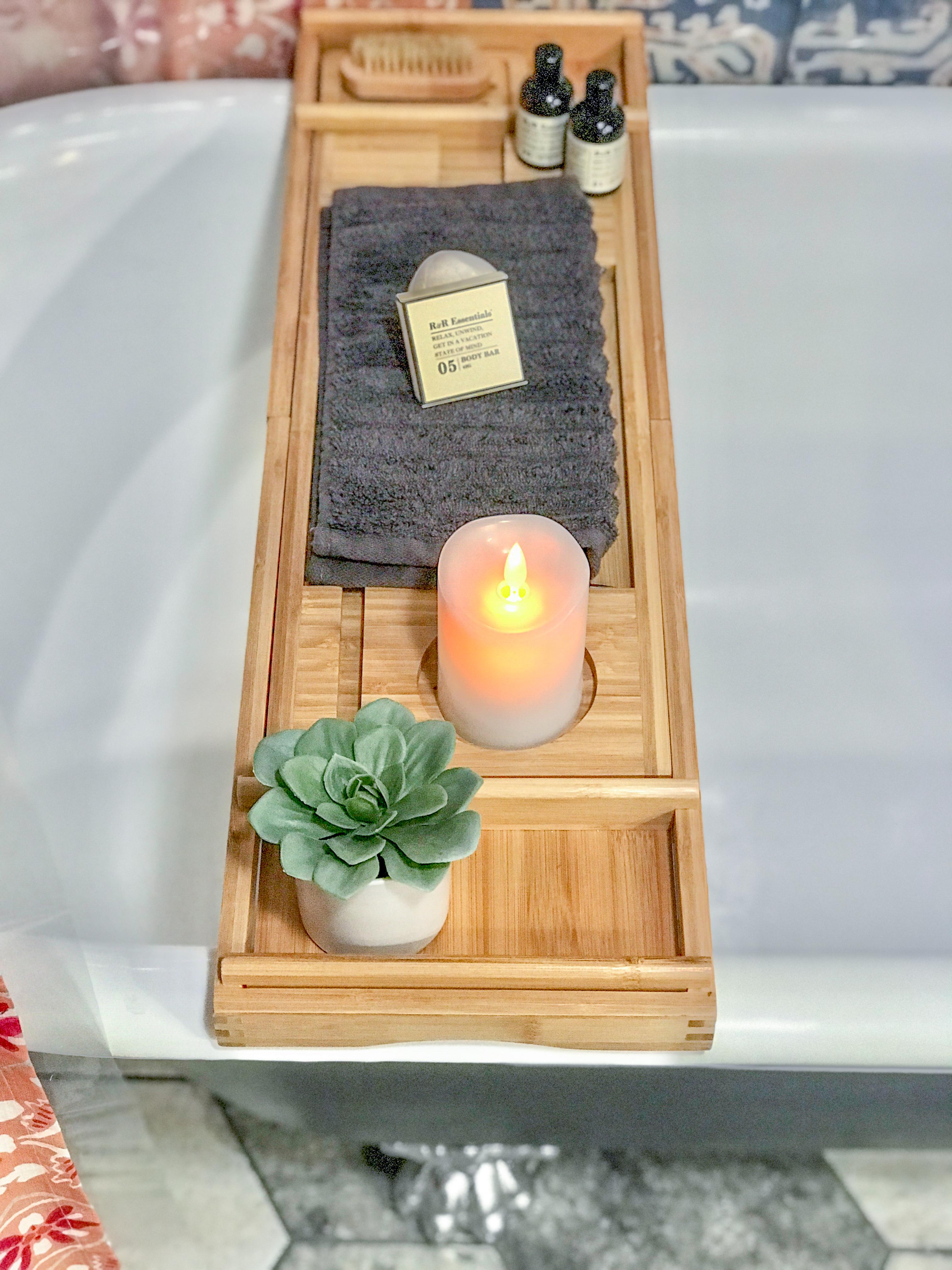 clawfoot tub bath tray