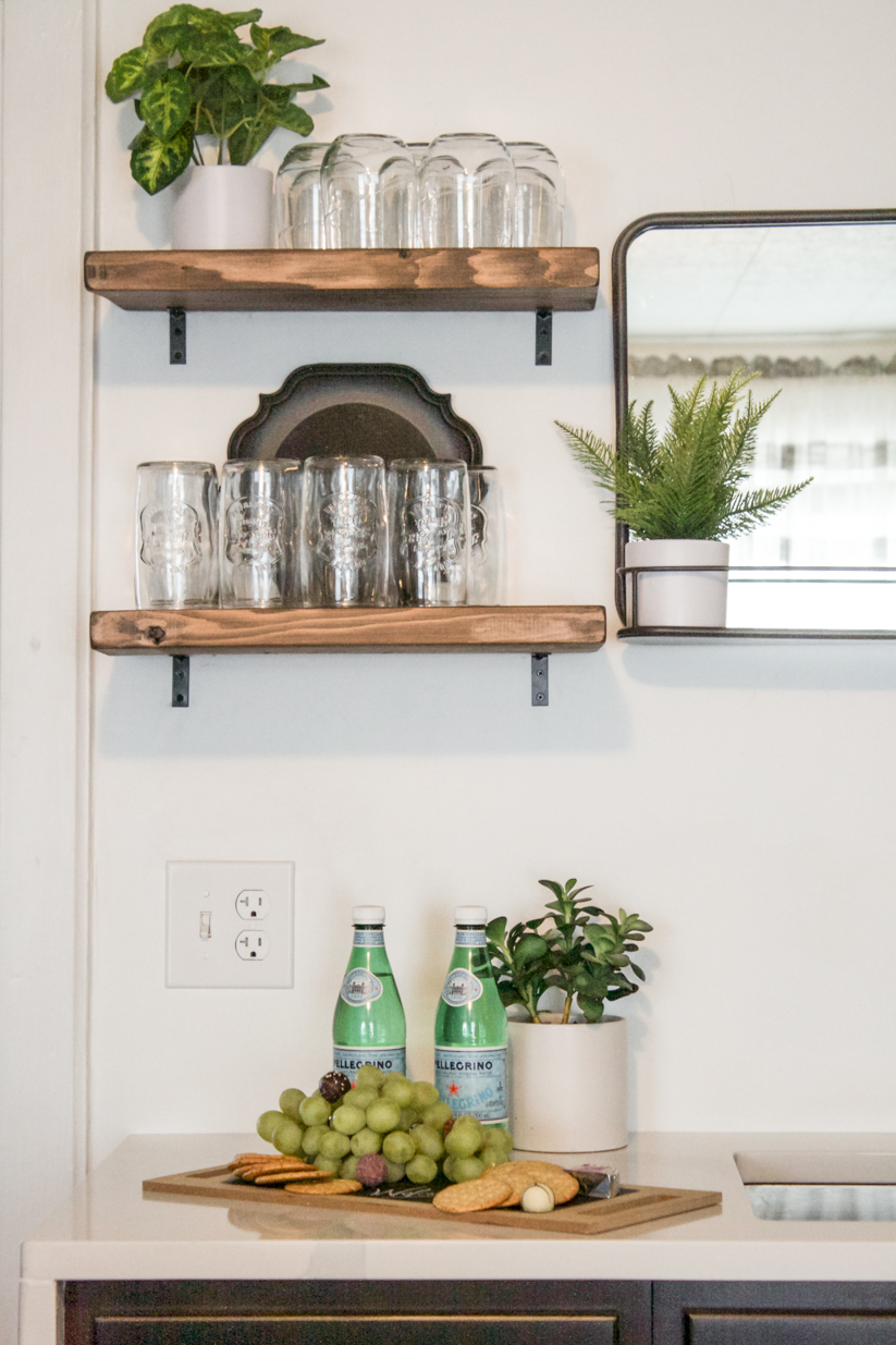 floating kitchen shelves apartment