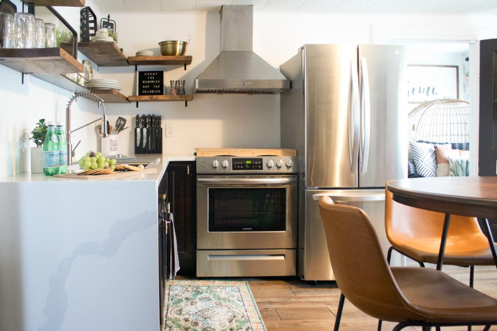 small modern apartment kitchen