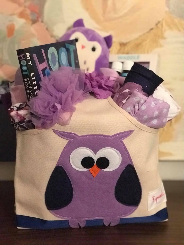 purple baby gift gift basket