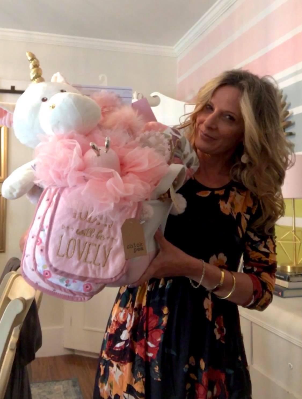 unicorn baby girl gift basket